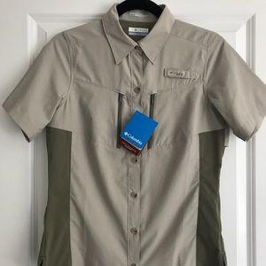 COLUMBIA Short Sleeve Fishing Shirt NWT!